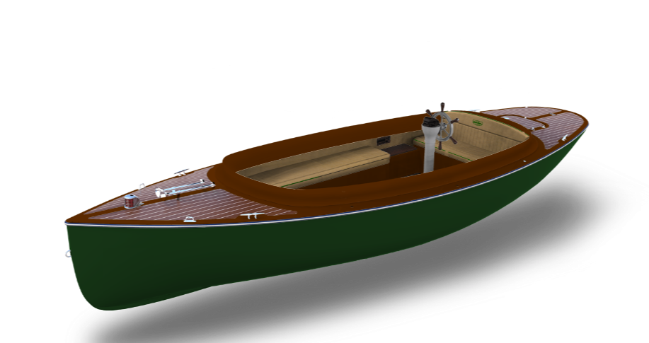 Fantail 217 electric boat